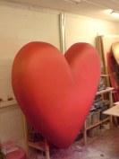 Polystyrene and jesmonite heart.