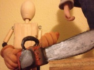 puppet armature with chain saw