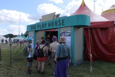 The Play House theatre entrance at shambala festival