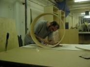 Working on sculpture